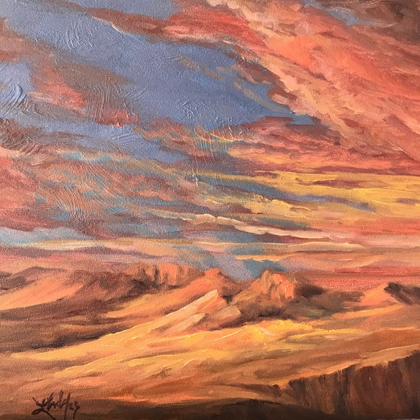 Sunglow Original Oil Art | Lindy Cook Severns Art