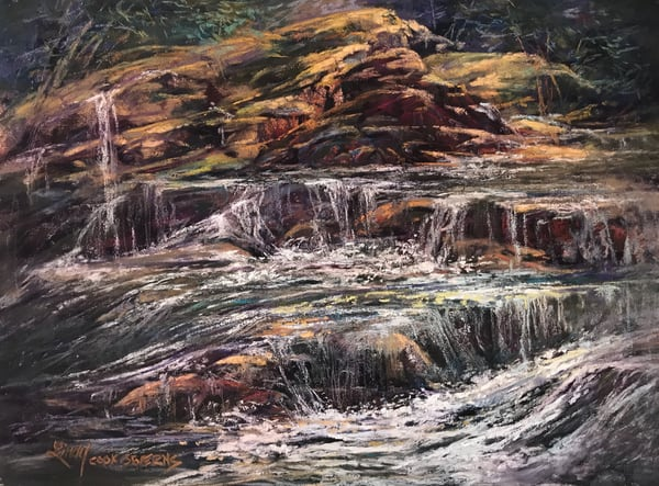 Lindy Cook Severns Art | Songs of Melting Snow, original pastel