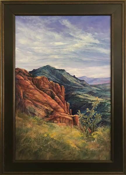 Lindy C Severns Art | Where the Mountains Touch the Sky, original oil