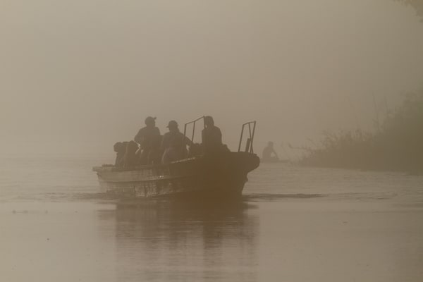 Skiff In The Fog Photography Art | Michael Scott Adams Photography