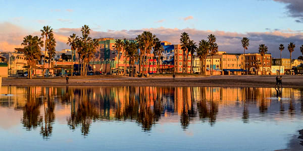 Oceanfront Walk Reflection Photography Art | Michael Scott Adams Photography
