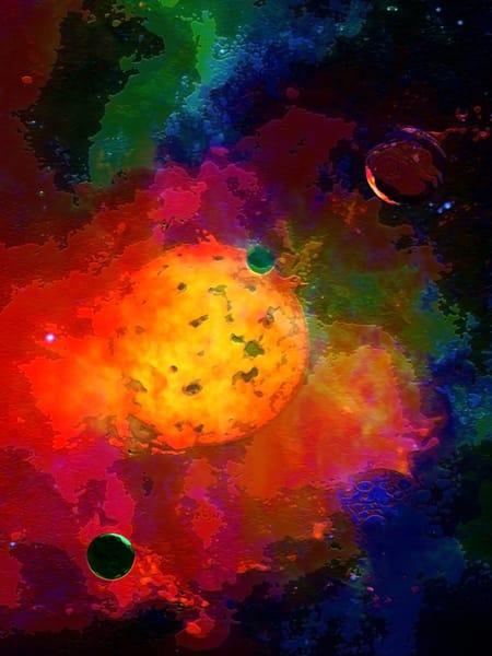 Space Fantasy Art - Emerging Planet - Don White Art Dreamer