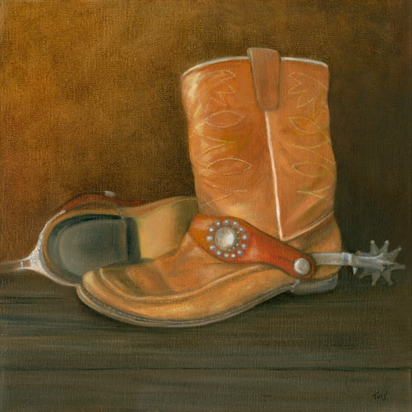 cowboy-boots, spurs, childhood-memories, western-print