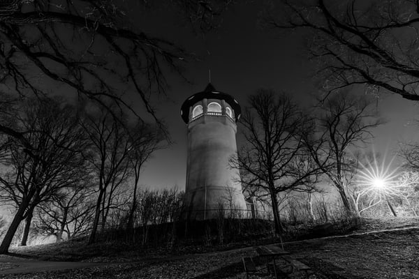 The Minneapolis Witches Hat Tower Black and White - Minneapolis Photos