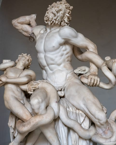 Laocoon at the Vatican Museum.