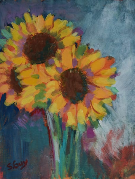 Spring Sunflowers Art | Sharon Guy