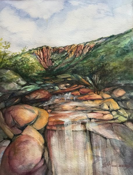 Lindy Cook Severns Art | High Desert Draw After a Rain, original watercolor