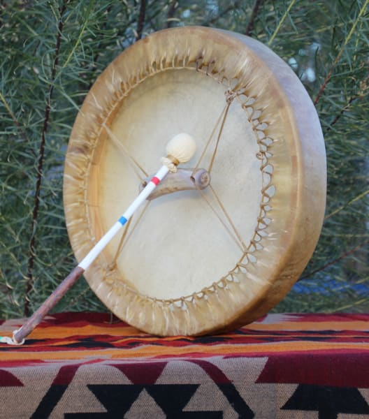 Deer Hide Drum   Authentic Navajo Drum by tohlakaiart