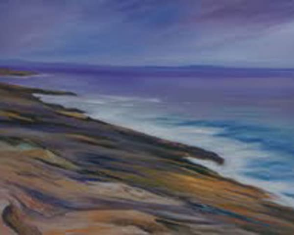 Maine Coast, From an Original Oil Painting
