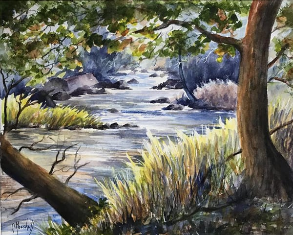 Hyde's Creek In Canada, From an Original Watercolor Painting
