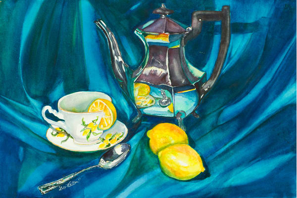 Tea With Lemon on the Side, From an Original Watercolor Painting