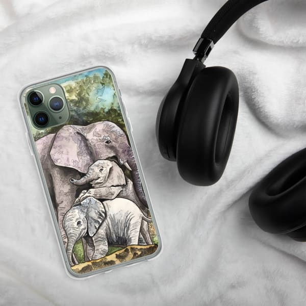 Elephant Mom I Phone Case | Water+Ink Studios