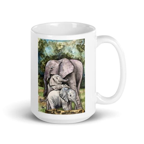 Elephant Mom Ceramic Mug | Water+Ink Studios
