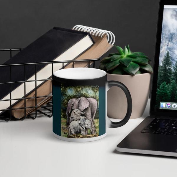 Elephant Mom Black Magic Mug | Water+Ink Studios