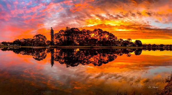 Dawn Fountain Lakes Estero Florida 2 Photography Art | vitopalmisano