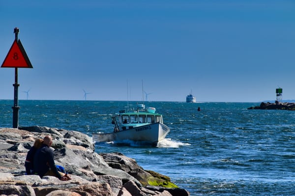 Rounding The Jetty by Keith R Wahl, Made From RI Gallery