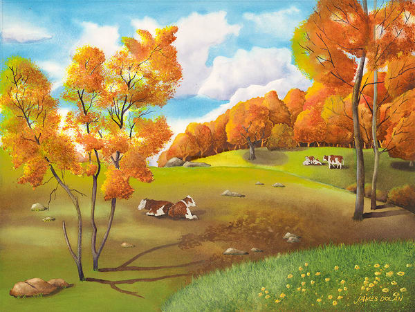 """Autumn Pasture"" fine art print by Jim Dolan."