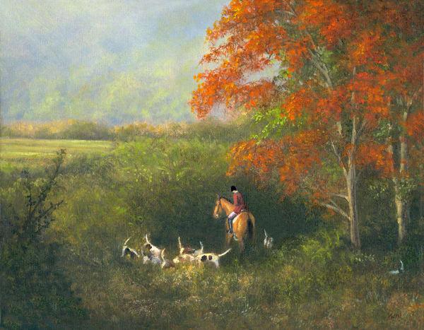 Fox Hunt, Lost The Scent Art | Tarryl Fine Art