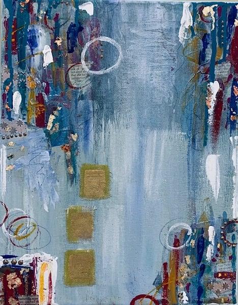 Elliptical Blue Art | Friday Harbor Atelier