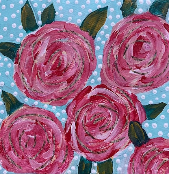 Five Roses Art by Friday Harbor Atelier