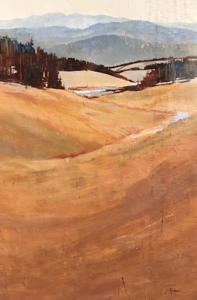 Dreaming, original landscape painting by Sarah B Hansen