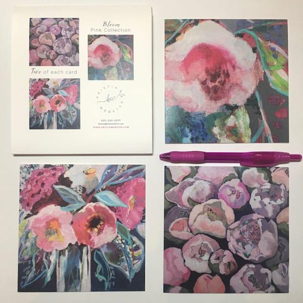 Bloom Pink Collection Card Set Art | Kristin Webster Art Studio