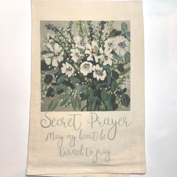 Secret Prayer Kitchen Towel Art by kristinwebster