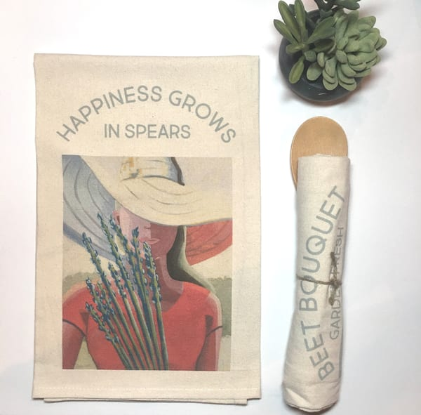 Happiness Grows In Spears Kitchen Towel Art by kristinwebster