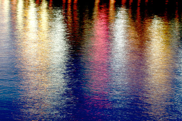 Rippled Water Lights Photography Art | Michael Scott Adams Photography