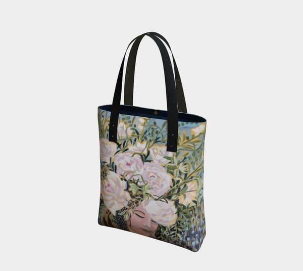 Release & Receive Lined Tote Bag Art | Kristin Webster Art Studio