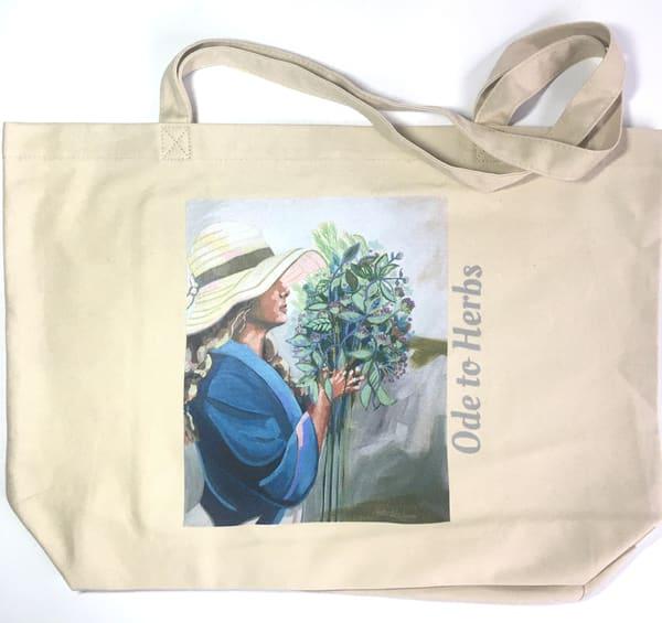 Ode To Herbs   Large Eco Bag Art | Kristin Webster Art Studio