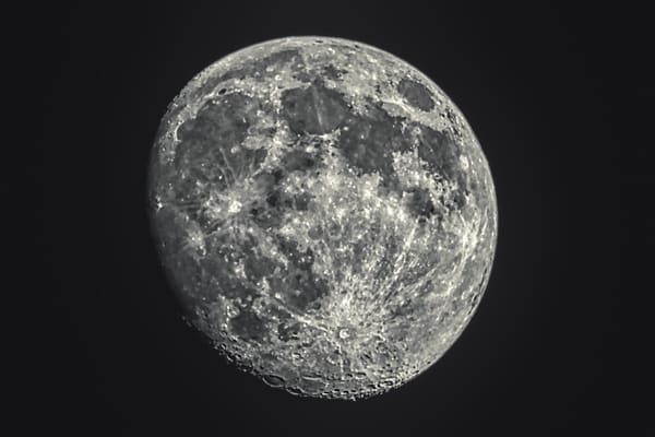 Waxing Gibbous Moon Of May 4, 2020 by Keith R Wahl, Made From RI Gallery