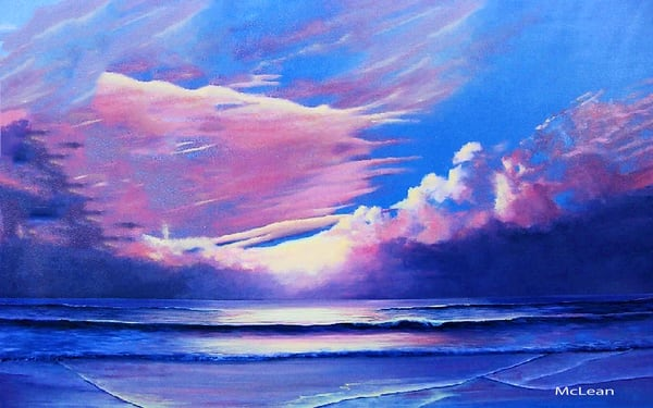 Morning Sunrise , From an Original Oil Painting