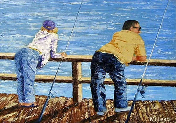 Fishing 101 , From an Original Oil Painting