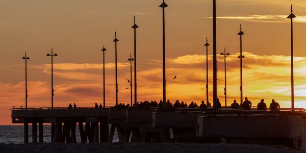 Venice Pier Silhouette Photography Art | Michael Scott Adams Photography