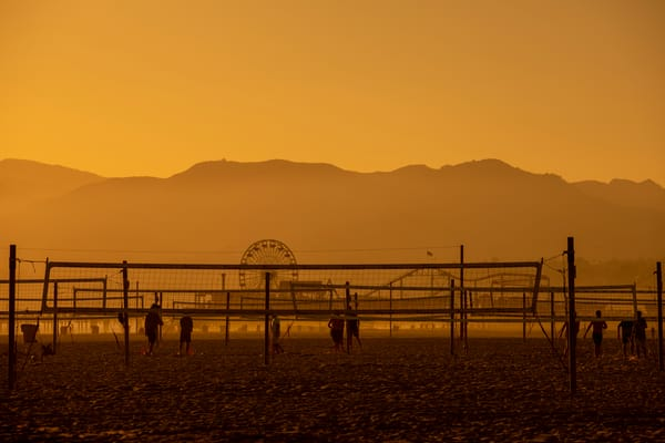 Mountains Pier Volleyball Photography Art | Michael Scott Adams Photography