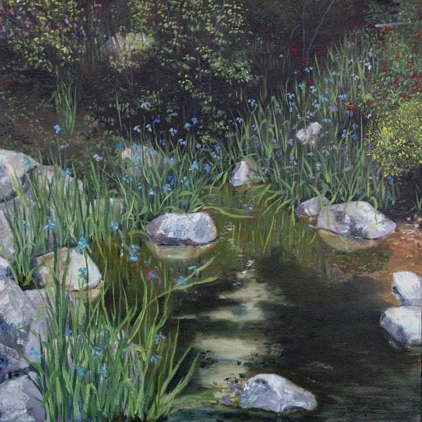 Iris Stream  Art | Chris Doyle Fine Arts