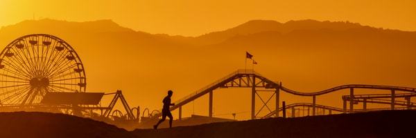 Jogger Pier Silhouette Photography Art | Michael Scott Adams Photography