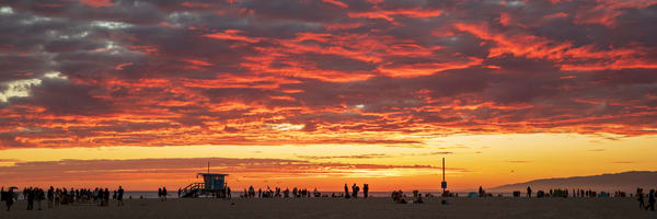 Red Clouds Over The Beach Photography Art | Michael Scott Adams Photography