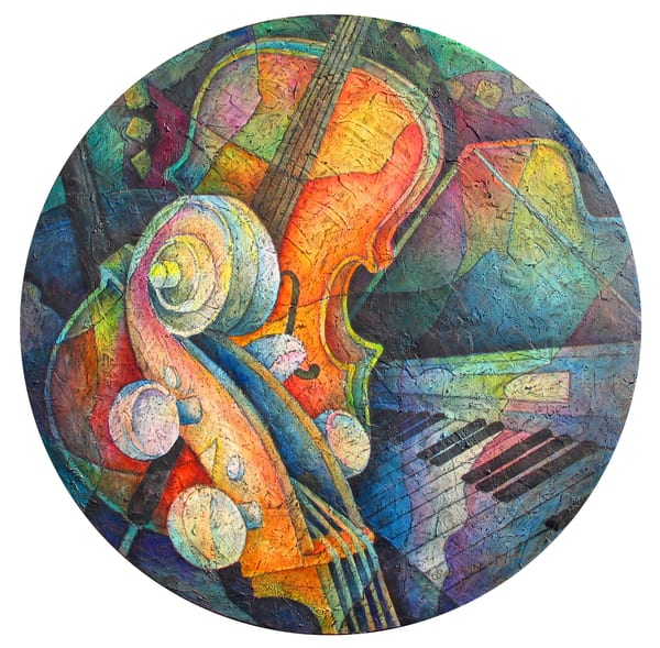 Circular Cello (Original Artwork) | Susanne Clark