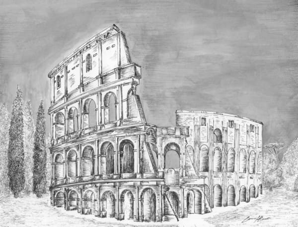 Colosseum Rome, Italy Art | hellerink