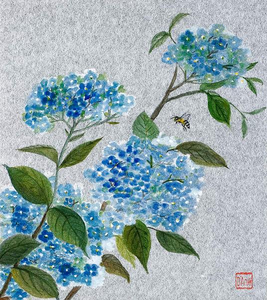 Blue Hydrangea  Art | donnadacuti