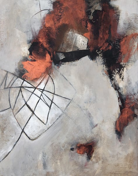 """""""Traversing Eternity"""" original abstract painting by Canadian artist Marianne Morris"""