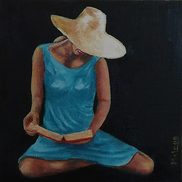 Sun Hat , From an Original Oil Painting
