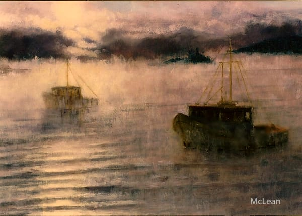 Sea Fog Morning , From an Original Oil Painting