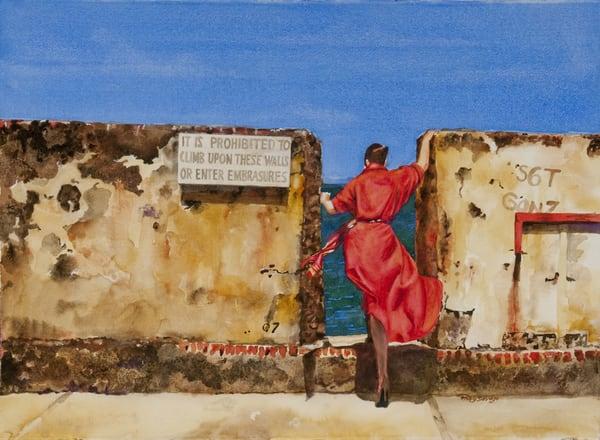 Red, Original Watercolor Painting