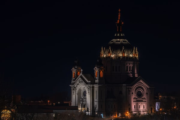 The Cathedral of Saint Paul at Night - St Paul Photos