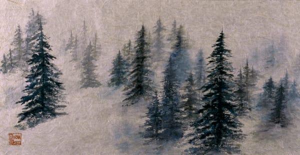 Foggy Trees Art | donnadacuti