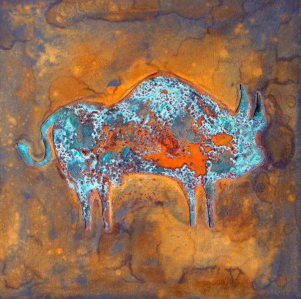 Patina Bull Ii   Paul Zepeda Art | Wet Paint NYC