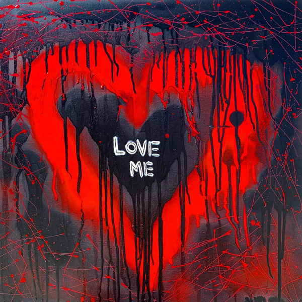 Love Me Drip Heart Pop Art Painting Artist Paul Zepeda Art | Wet Paint NYC